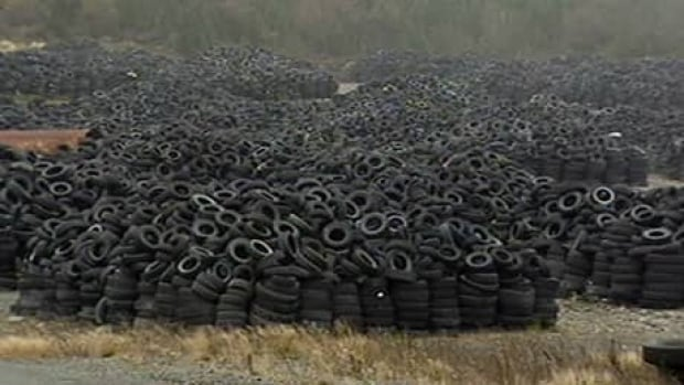 The province's tire stockpile (shown in a 2008 file photo) will soon be no more.