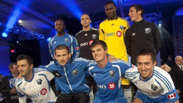 Marco Di Vaio, right, leads the MLS with nine goals after scoring five times in the Montreal Impact's last three games.