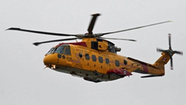 A Search and Rescue Cormorant helicopter and a coast guard hovercraft have been involved in the search for the missing man.