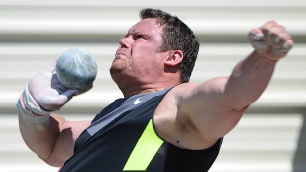 Canada's Dylan Armstrong, shown here competing in Rome last month, a two-time Olympian and Canadian record-holder in shot put.