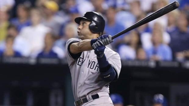New York Yankees shortstop Derek Jeter was hurt last October in the opener of the AL championship series.
