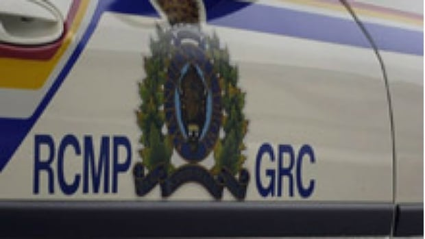 A marked RCMP truck was side-swiped by another truck on Highway 211 west of Pinawa, Man., on Sunday morning, shattering a window on the driver's side.