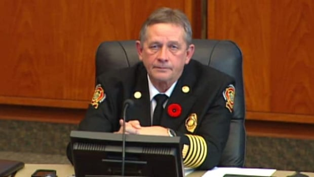 City officials confirmed fire chief Reid Douglas had been fired on Wednesday.