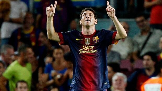 Lionel Messi of Barcelona extended his record scoring streak to 13 on Sunday against Getafe.