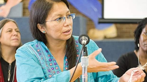 Grassy Narrows First Nation activist Judy DaSilva received the Michael Sattler Peace Prize in Germany this week.
