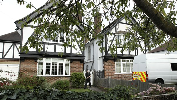 The home Saad al-Hilli in Claygate, south of London, which was searched by a bomb squad and police.