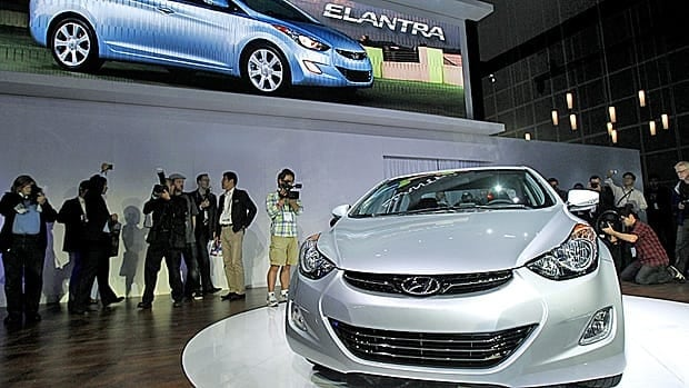 The Hyundai Elantra is one of 13 Hyundai and Kia lines affected by a large recall announced Wednesday.
