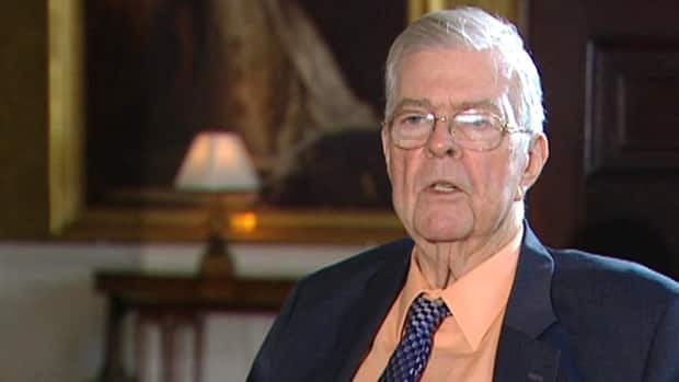 John Crosbie, seen during a 2012 interview with CBC News, says all parliamentary democracies have seen cabinet ministers lose power to the prime minister.