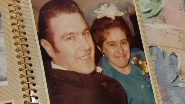 Glenn Oakley and his wife, Sheila Oakley, on their wedding day.