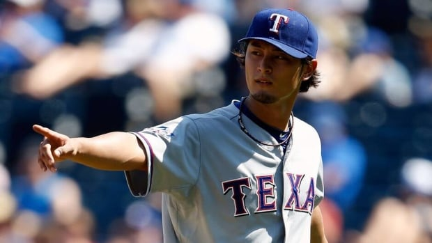 Yu Darvish of the Texas Rangers will miss the All-Star Game with a mild strain in his upper back.