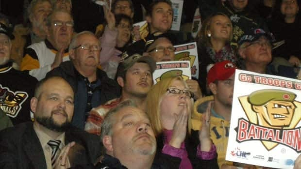 North Bay Battalion fans made their way to Sudbury late last year to cheer on the Brampton team as they beat the Sudbury Wolves, 4 - 2.