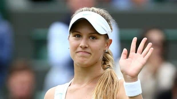 Eugenie Bouchard had trouble with her serve all match long in the third round on Friday.