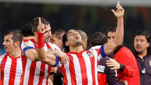 Atletico's Radamel Falcao scored his 21st goal in the Spanish league this season.