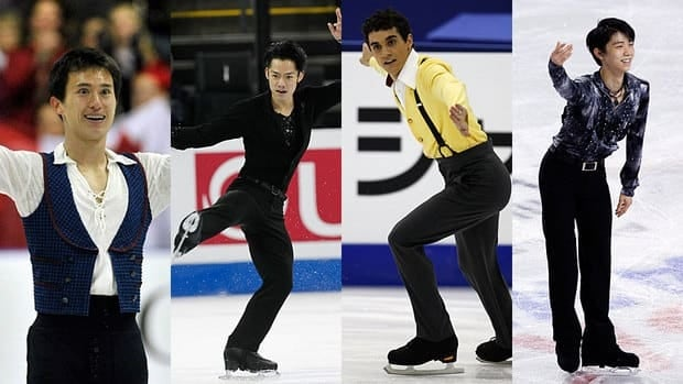 The men's event at the Grand Prix Final features top contenders, from left, Patrick Chan, Daisuke Takahashi, Javier Fernandez and Yuzuru Hanyu.