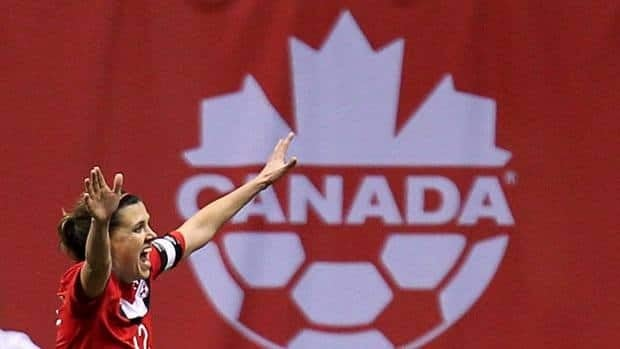 Canadian soccer players Christine Sinclair, left, and Sophie Schmidt, centre, will be heading to the National Women's Soccer League in the U.S., while Melissa Tancredi is planning on going back to school.