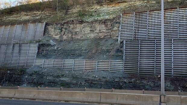 Crews are doing rock-facing work on the Claremont access this weekend.