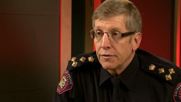 Calgary police Chief Rick Hanson first joined the service in 1975.