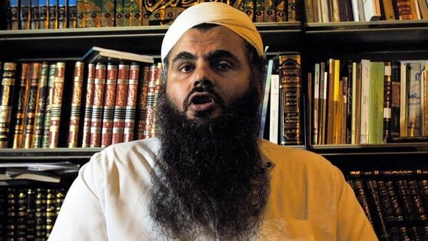 Radical Muslim cleric Omar Mahmood Abu Omar, also known as Abu Qatada, is shown at his North London home in 2001. On Monday, Abu Qatada, who officials say is an al-Qaeda figurehead, was freed from an English prison into virtual house arrest.