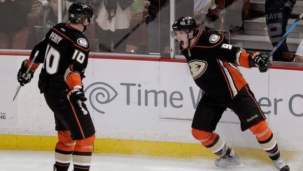 Ducks GM Bob Murray might be forced to trade Bobby Ryan, shown here, who is slated to make $5.1 million US in each of the next two years. Top scorers Ryan Getzlaf and Corey Perry will take up $16.9 million of the team's payroll next season.