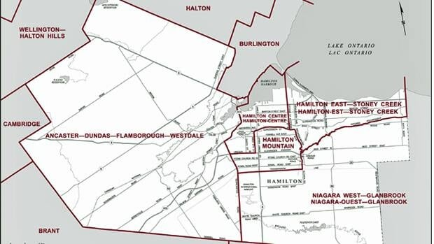A commission is looking at redrawing Hamilton's federal electoral boundaries.