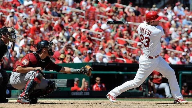 David Freese hit .283 with 20 home runs and 79 RBIs last season.