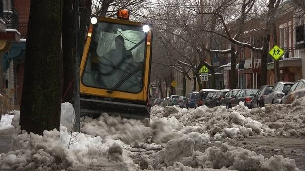 Montreal was blanketed with about 16 centimetres of snow yesterday, and Environment Canada is forecasting about 4 more centimetres will fall by end of day Thursday.
