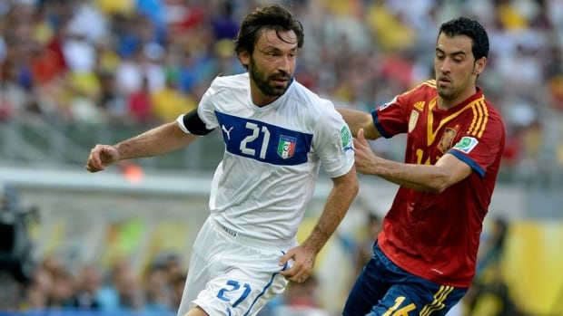 Andrea Pirlo of Italy looks on during the Confederations Cup match against Mexico on June 16, 2013 in Rio de Janeiro, Brazil.