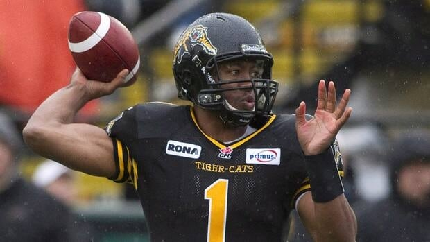 Ticats QB Henry Burris. The team and fans get their first taste of the team's home away from home in Guelph Thursday