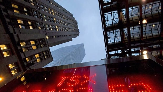 The Toronto Stock Market rebounded late Thursday after losing 70 points earlier in the day.