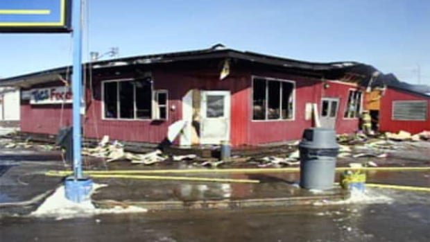 The Tags convenience store in Watson Lake was gutted by fire early Wednesday morning.
