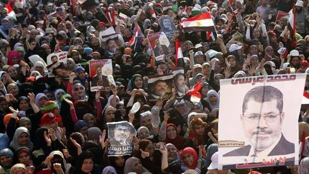 Supporters of deposed Egyptian president Mohammed Morsi protested outside his place of detention in Cairo on Sunday while a military-driven plan to resolve the political crisis remained mired in mistrust and confusion.