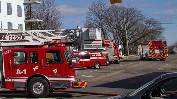 Police say a fire broke out at a construction site at 316 King Street North in Waterloo at around 2:30 p.m.