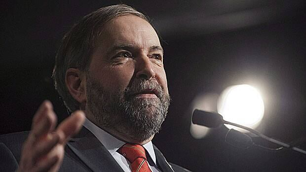 NDP Leader Tom Mulcair suggested Tuesday he would rather see Canada build a pipeline to carry crude from the west to the east than extend the Keystone pipeline to the U.S. Gulf Coast.