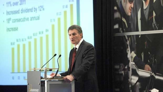 Enbridge CEO Al Monaco addresses the company's annual meeting in Calgary in May.