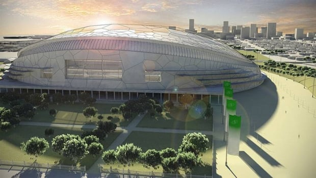 The City of Regina has released artists' conceptions of the $278 million proposed stadium, which will be built in Evraz place west of the downtown.