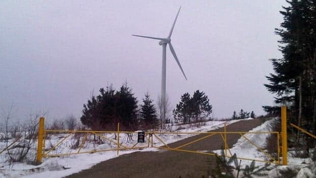 A $2.5-million wind turbine installed on the grounds of the Dorchester Penitentiary has stopped operating. The Correctional Service of Canada cannot say when it will be working again.