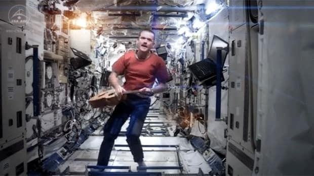 Canadian astronaut Chris Hadfield in his video rendition of David Bowie's Space Oddity.