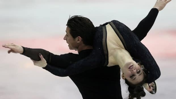 Tessa Virtue and Scott Moir during the ISU Four Continents Figure Skating Championships in Osaka, western Japan, Friday, Feb. 8, 2013.