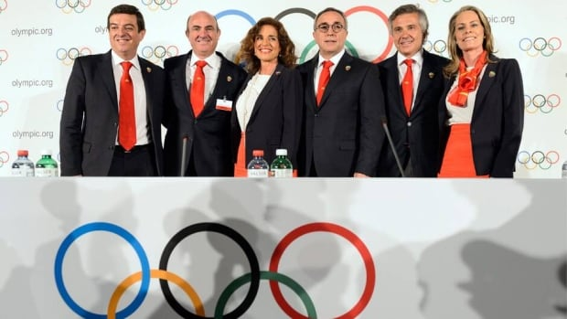 Members of the Madrid 2020 bid committee, presented their Olympic plans on Wednesday to the general assembly of the International Olympic Committee.