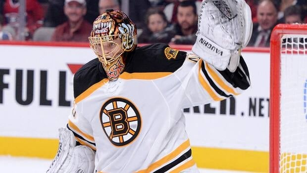 Tuukka Rask of the Boston Bruins during a game against the Montreal Canadiens on February 6, 2013 in Montreal.