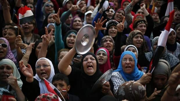 Large protests calling for the ouster of Egyptian President Mohammed Morsi have made investors nervous and pushed up the price of oil over concerns that transit routes through the Suez Canal could be disrupted.