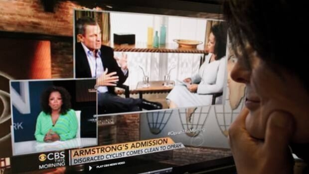 Oprah Winfrey hypes her interview with Lance Armstrong on CBS This Morning on Tuesday.