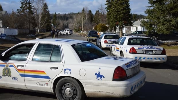 Prince George RCMP investigate a suspicious death in the 800 block of Douglas Street Friday afternoon.