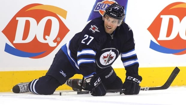 Eric Tangradi had one goal and three assists in 36 games with the Jets last season.