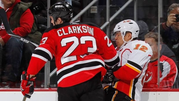 Jarome Iginla, right, shown here in 2010 while playing for the Calgary Flames, and David Clarkson, left, are two of the bigger names available when free agency hits on Friday.