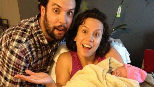 Kyle and Clynis Cawdell delivered their first baby, Alice, at home by themselves.