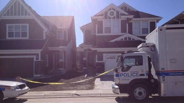 The scene of the fatal stabbing in southeast Calgary last weekend.