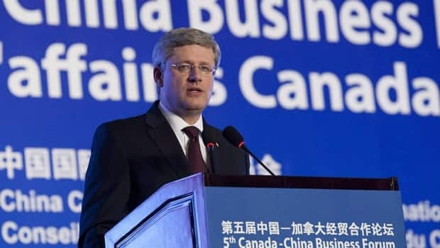 Prime Minister Stephen Harper spoke to a business group in Beijing during his trip to China in February, 2012. Perrin Beatty, president and CEO of the Canadian Chamber of Commerce says Canada is playing catch up when it comes to business in one of the world's fastest growing economies.