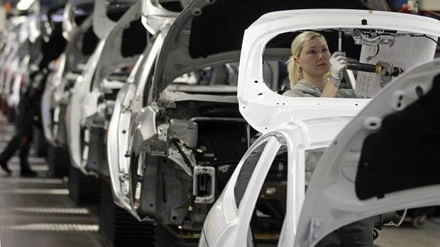 Germany's high-value exporters, such as its major car manufacturers, are struggling in a tough European marketplace.