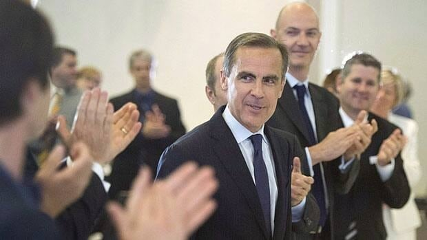 Former Bank of Canada governor Mark Carney is given a round of applause after delivering his last speech as governor at the Board of Trade in Montreal on May 21.